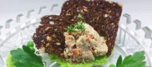 Tunmousse med ærtepuré