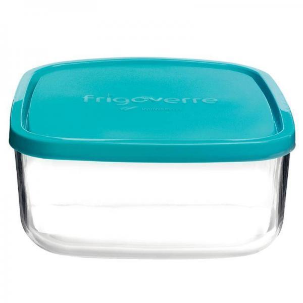 Hormonvelig GlassBowl Kvadratisk – blå låg / ideel til mealprepping