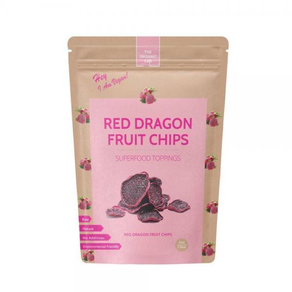 Økologiske dragefrugt chips