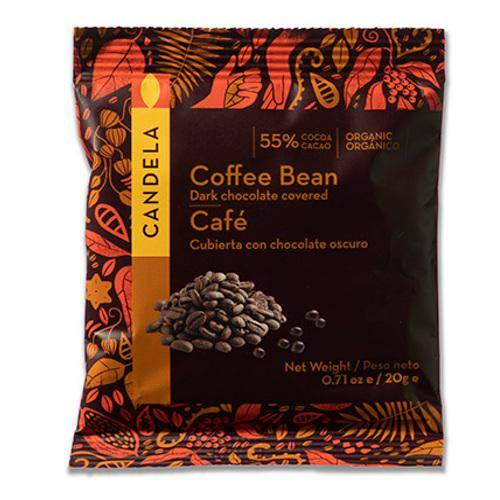 Økologisk chokolade overtrukne kaffebønner