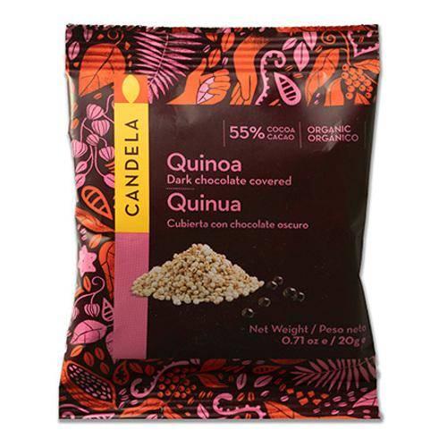 Økologisk chokolade overtrukket quinoa
