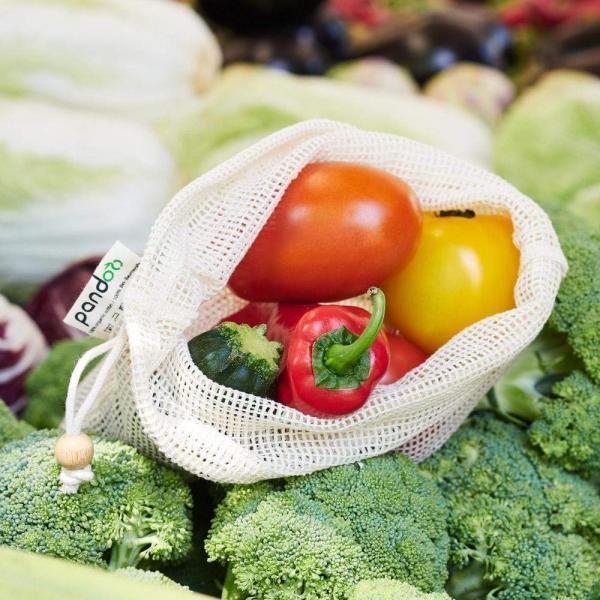 Frugt og grønt net i økologisk bomuld