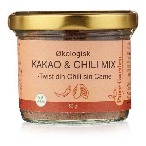 Økologisk & Vegansk kakao og chili mix